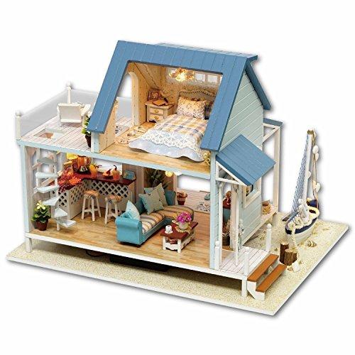 Fai Da Te Casa Delle Bambole In Legno Fatto A Mano In Miniatura Kit