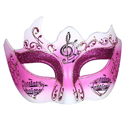 Funpa Venezianische Maske Floral Noten Glitzer Masquerade Maske Halloween Party Kostüm Maske one size ()