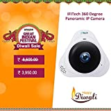 #10: IFITech 360 Degree IP Camera Home Secutity Panoramic Wifi Wireless HD 960P Motion Detection IR Night Vision Two Way Audio Monitor Office, Home, Garage, shop, Baby, Elderly or Pets Support 128G SD card - White