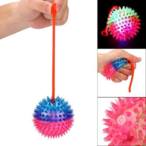 Omiky® Blinkende Puffer Balls Squeezable Stress Squishy Spielzeug Stress Relief Ball für Spaß (Zufällige Farbe)