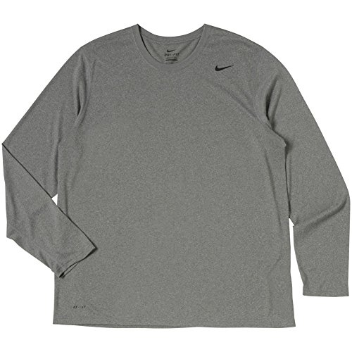 Nike Men's Carbon Heather Legend Long Sleeve Performance Shirt, MD  -