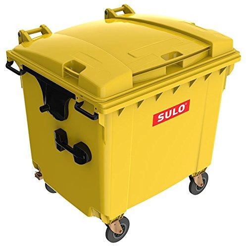 *Mülltonne MGB 1100 Liter, 4-Rad-Behälter mit Flachdeckel (Gelb)*