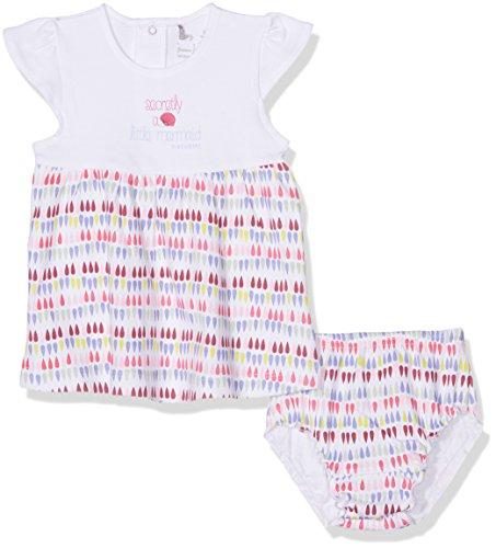 natubini Mädchen Kleid Baby Bio-Baumwolle mit Höschen, Mehrfarbig (Bunt 999) 74 (Bio-höschen)