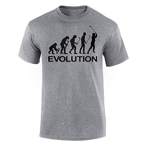 Ynjgqeo Mens T Shirt-Human Golf Sport Evolution Adult Novelty Funny Graphic Short Sleeve Tee -