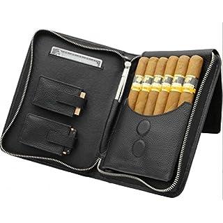 adorini Zigarrenetui Echtleder schwarz inkl. Lifestyle-Ambiente Tastingbogen