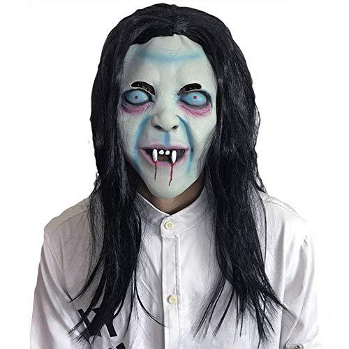 JIE Halloween Lange Haare Horror Hexe Maske Geist Maskerade Performance Show Verkleiden Sich Requisiten,Foto (Hexe Maskerade Maske)