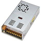 DROK® AC-DC fuente de alimentación Digital AC 110-220V/DC 0-24V 20A switch convertidor 480W ajustable voltaje detector regulado incorporado ventilador de la fuente de alimentación