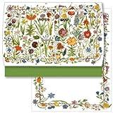 Briefpapier Schreib Set Gartenblumen