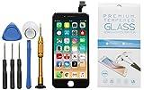 GIKEB Ersatzdisplay für iPhone 6 in schwarz | funktioniert mit iOS 12 | komplettes LCD Retina Glas | Reparatur | mit Schutzfolie & Werkzeug | Deutscher Händler | 3D Touch | hohe Qualität