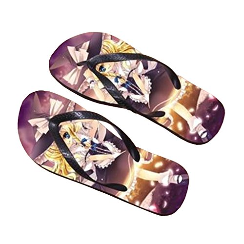 Bromeo TouHou Project Anime Unisex Flip Flops Zehentrenner Flip Pantoffeln 749