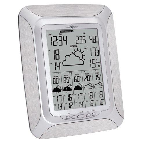 Technoline WetterDirekt Wetterstation WD 6005 mit Wettervorhersage für 6 Tage, Innen- /Außentemperaturanzeige und Urlaubswetteranzeige für 150 Regionen