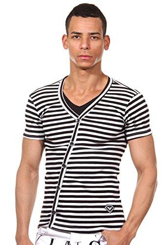 FIYASKO T-Shirt schwarz/weiss