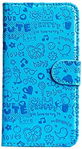 Purple Eyes ABC Artificial Leather Flip Case For Samsung Galaxy Note N7000 i9200 Blue