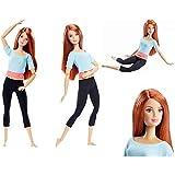 Barbie- Fashionista Made to Move Muñeca con Articulaciones Flexibles, Pelirroja, Multicolor (Mattel DPP74)