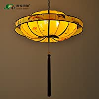 Wandun Nuovo Lampadario Lanterna Cinese Rotondo Tessuto Dipinto A Mano Lampade