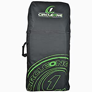 """PROFESSIONAL Soles Up Front SUF BODYBOARD BAG Double bag for upto 2 x 33"""" or 2 x 42"""" Body boards. massive pockets. Backpack, Shoulder or Carry handle (Black)"""