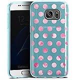 Samsung Galaxy S7 Silikon Hülle Case Schutzhülle Transparent mit Muster Punkte Polka Dots