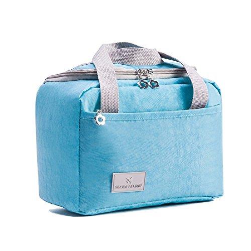 Hhgold borsa picnic termica frigo pranzo ufficio termico impermeabile (colore : blu)