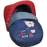 Babyline  - Saco universal de invierno  teddy bear para silla de auto/grupo 0 azul marino
