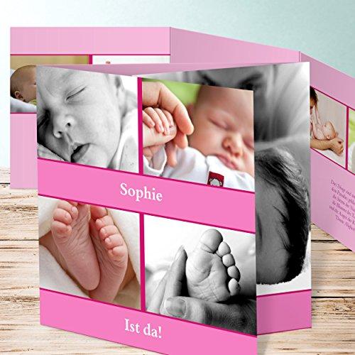 Ausgefallene Geburtskarten, Lubi 35 Karten, Doppelklappkarte 145x145 inkl. weiße Umschläge, Rot