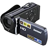 KENUO HD 1080P Minikamera Camcorder Überwachungskamera Digital Videokamera 3.0 TFT LCD 16x Zoom DV 5.0MP CMOS Sensor Blau EU