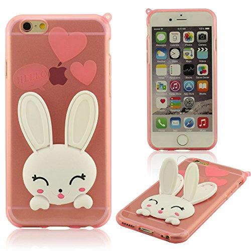 """Animal Type Mignonne Conejo Serie - Coque iPhone 7 Plus Soutien Fonction, Transparent Flexible Gel Coque Case Protecteur pour iPhone 7 Plus 5.5"""", iPhone 7 Plus Housse étui de Protection Ultra mince Rose"""