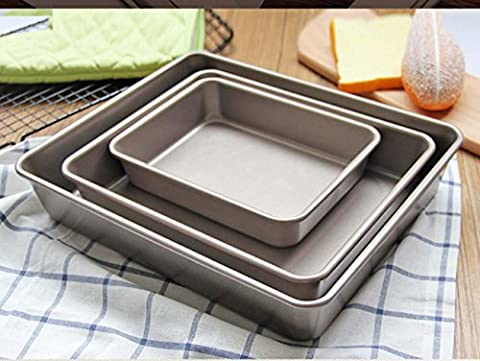 Baked Small Cake Biscuits Kitchen Tool Deep Paragraph Rectangular Baking Pan 4 Sets , 3 pieces