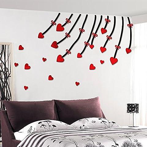 qwer Amor vides 3D pared acrílico salón habitaciones decoradas con carteles de pared caliente boda joyas , publicado las habitaciones están bien amuebladas en el corazón , negro pequeño de ratán