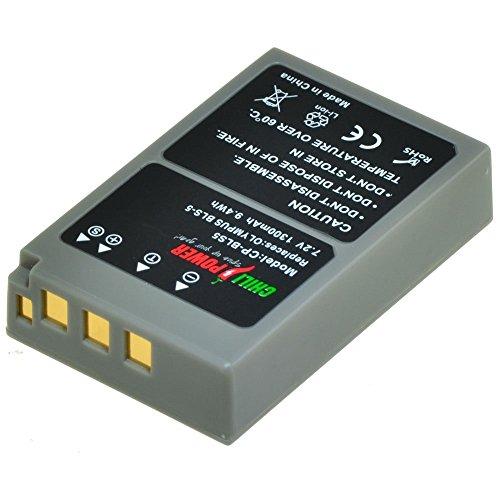 Chili Power PS BLS5, PS bls50, BLS 5, BLS 50batteria per Olympus OM-D E-M10, Pen E-PL2, E-PL5, E-PL6, E-PL7, E-PM2, Stylus 1