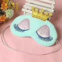 Nabati Schlafmaske, Augenmaske, mit Prinzessin-Design, mit Kronen- und Augenmotiv, für Kinder, Blau preisvergleich bei billige-tabletten.eu