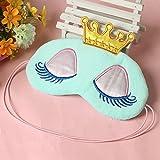 Nabati Schlafmaske, Augenmaske, mit Prinzessin-Design, mit Kronen- und Augenmotiv, für Kinder, Blau