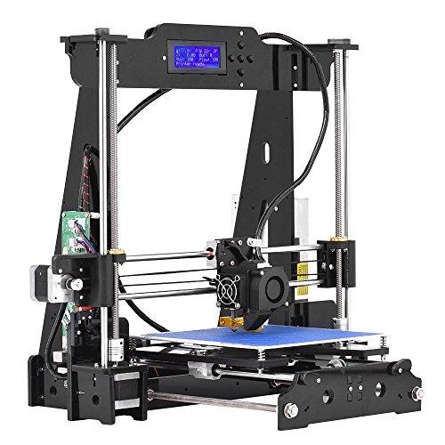 aibecy Desktop 3d Drucker DIY Kits Hohe Präzision Ich Haus Acryl Rahmen Wind i3mit TF Karte Max. Druck Größe 220* 220* 240mm Unterstützung ABS/PLA/TPU/Holz Filament (Präzisions-haus)