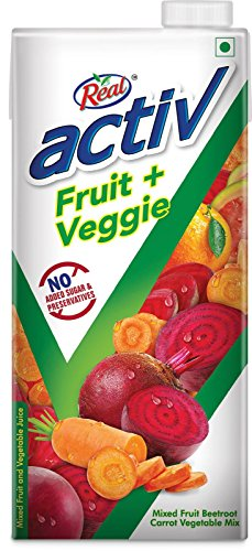 Real Activ Fruit Veggie Juice, Beetroot Carrot, 1L