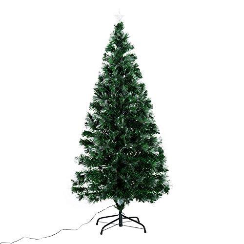 Arbol de Navidad Altura 150 cm + Estrella y 180 Luces LED...