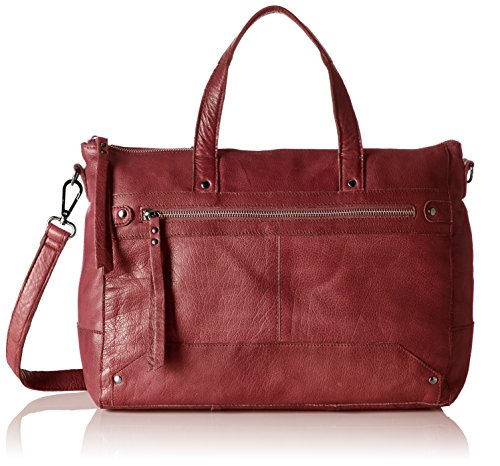 PIECES - Pcnara Leather Bag, Borsette da polso Donna Rosso (Port Royale)