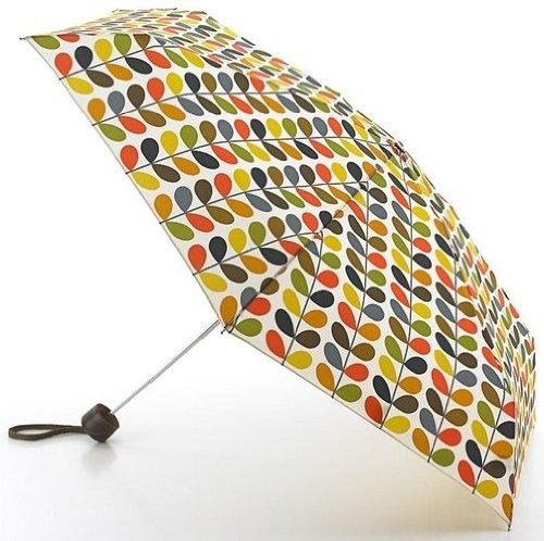 Orla Kiely EXTREM SCHMALER LUXUS GESCHENKBOX Multi Stiel Regenschirm 15.5cms geschlossen