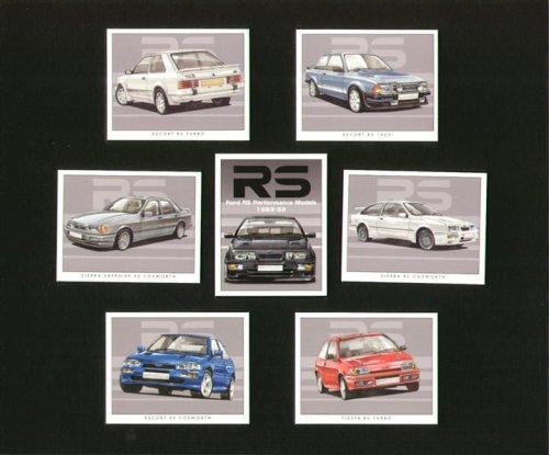 Ford RS Performance Modelle 1983-92-Escort RS 1600i, Escort RS Turbo, Sierra RS Cosworth, Sierra Sapphire RS Cosworth, Fiesta RS Turbo, und Escort RS Cosworth-Sammler Karten (Ford Turbo Escort)