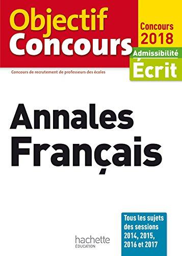 Objectif CRPE Annales Français