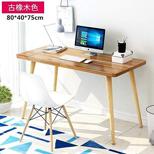 Wayward Home Office Große Computer Schreibtisch,einfache Schreiben Computertisch,hölzerne Bein Rechteckige Study-Tabelle Multifunktöne Workstation-n 80x40x75cm(31x16x30inch) -