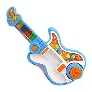 Wishtime Multi-funtions Kids Musical Touch Drum Magic 4-in-1 Guitar Musical Instruments Toys