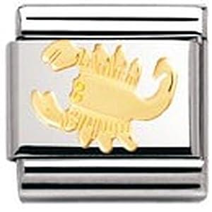 Nomination Composable Classic Sternzeichen Edelstahl und 18K-Gold (Skorpion) 030104