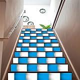 Home Arts Treppen Wandaufkleber Abziehbilder Abnehmbare Selbstklebende Mosaik PVC Wasserdichte Treppe Tapete Für Wohnzimmer Dekoration 6 Teile/Satz