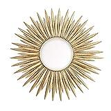 YHMT Decorativo Specchio da Parete, Forma di Sole Creativo, Oro Telaio in Ferro Specchio Rotondo Cosmetico Arte, Camera da Letto/Ristorante/Hotel