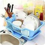 #10: Rian's Online™ Multi-Function creative dish racks kitchen utensils kitchen dishes draining rack storage racks - 1 Pc ( Random Color)