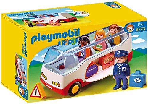Playmobil 6773 1.2.3 Airport Shuttle Bus with Sorting Function