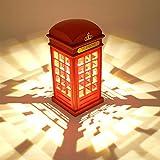 Nachttischlampe, Dimmbare LED Nachtlicht London Telefonzelle Form Atmosphäre-Lampe mit 3.5mm USB Cable für Baby Schlafzimmer Dekor Neuheit Geburtstag Geschenk (nicht enthalten Batterien)