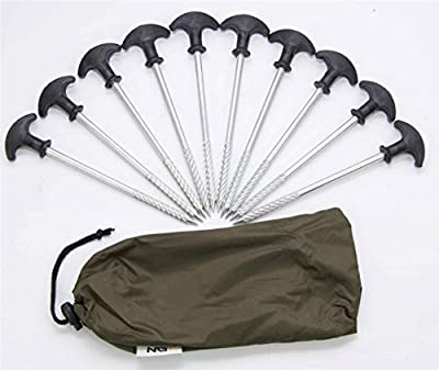 10 x Heavy Duty Fishing Bivvy Camping Tent Peg Shelters Brolly 20cm NGT Pegs by Carp Corner