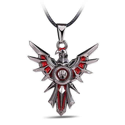 Kostüm Lol Einfach - Armbänder Für Herren Vintage Phoenix Engel Flügel Halskette Halskette Glasierten Pfau Vogel Lange Halskette Frauen Lol Schmuck Weihnachtsgeschenke