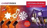 LED Deko Strahler mit 3 winterlichen Motiven Weihnachtsdeko LED Licht Außenleuchte für Innen und Außen