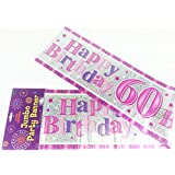 Happy 60th Birthday Giant Party Wall Banner 3 Banners Age 60 Party Decoration